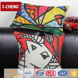 Creative Fashion Colored Drawing Printing Designs Cushion Inflatable Lumbar Support Cushion Rocking Chair Cushion Covers