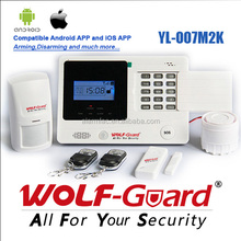 PIR Motion detect GSM alarm system for home security protection and burglar alarm.