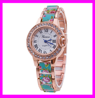 Wholesale fashion geneva women's automatic flower watch