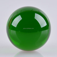 Green Fengshui Glass Crystal Ball 70mm Cheap Goods From China