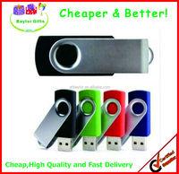 Perfect stability Logo printed swivel USB stick