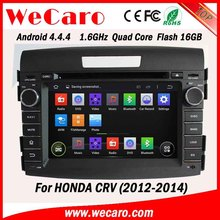 WECARO Factory OEM High End 1080P Pure Android 4.4.4 Car Multimedia System For Honda CRV
