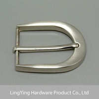 Special brushed silver curved ZINC ALLOY custom belt buckle 35mm