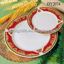 47pcs porcelain dinnerware set \golden decal , china dinnerware