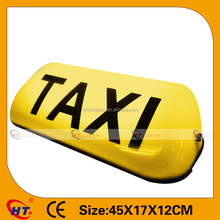 Car top advertisement small led neon taxi roof sign
