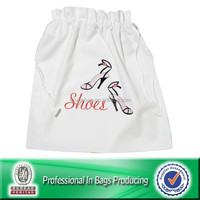 Lead-free 100% Recycled Material Cheap nonwoven drawstring shoe bag