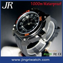 Custom watches 2015 1000m watchproof watches for men.High quality china mens quartz wrist watches