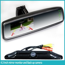 low price 4.3 Inch LCD monitor reverse camera with bluetooth kit vw passat parking sensor