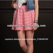 Del círculo de mujeres raya roja falda falda casual( ntf04060)