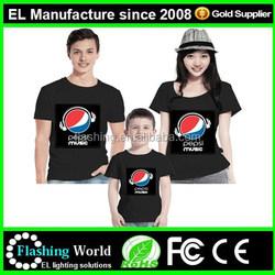 led t shirt, sound activated led t shirt,light up led t-shirt