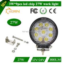 2015 new 27w car led tuning light/led work light for trucks