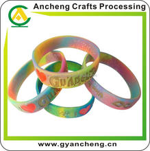 New design custom souvenir silicone wristband/silicone bracelet for corporate gifts