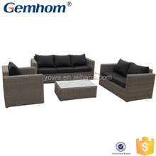 european hot sale design rattan sofa wiker outdoor furniture