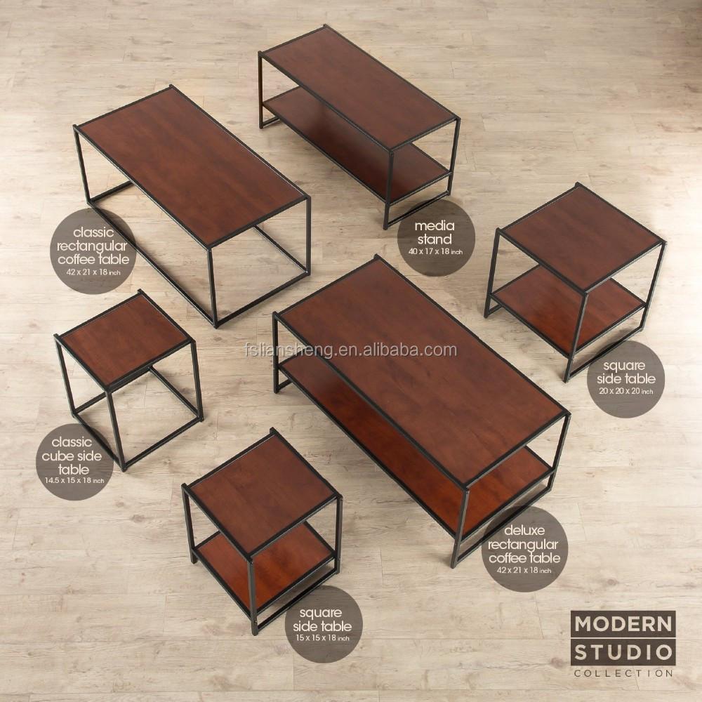 Mesa de café de alta calidad y diseño simple mesa de café de metal ...