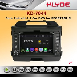 hot 7 inch HD 2 din android 4.4.4 auto radio player for SPORTAGE R