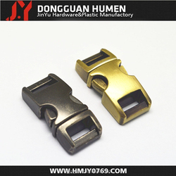 H001 metal buckle with custom logo,10mm curved quick release metal buckle