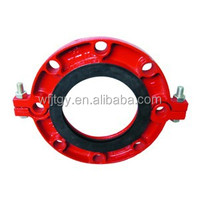FM&UL Approved Ductile Iron pipe fitting grooved flange