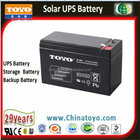 TOYO 12V8AH High Performance Lead Acid Battery for Emergency Lights Passing CE UL ISO
