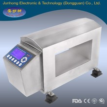Detection of ferrous, non ferrous and stainless steel contaminants food industry metal detector