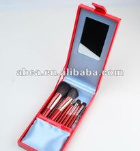 Pro 22pc make up brush set hair natural red
