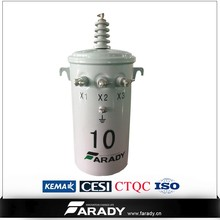 19.92kv 25kva Oil immersed single phase pole mounted transformer D13 series