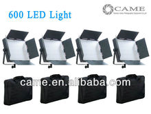 Free Bag 4pcs CN 600 LED Panel Video Light 5400k Camera Studio CN600 LED Continuous