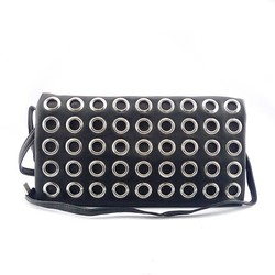Top fashion style pu leather clutch bag evening bag with metal zipper