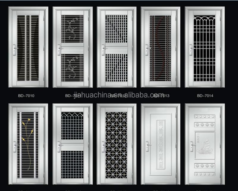 Stainless steel doors and windows 304 material exterior for Steel door design