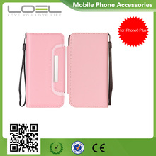 2015 Hot Mix Color Flip Wallet Card Leather Phone Case For iPhone6 Plus