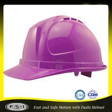 Low price CE approved purple industrial safety construction helmet