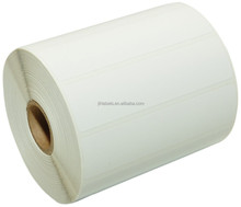 Direct Thermal Labels, 4-Inch x 1 Inch, White, Roll, Permanent Adhesive, Perforations Between Labels, 1300 per Roll