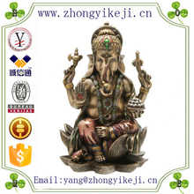 2015 chinese factory custom made handmade carved hot new products resin indian statue home decor of elephant god statue