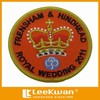 Wholesale King's Hat Design Fabric Patch / Plain Embroidery Badge Label