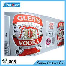Top grade Custom silver foil beer and wine label