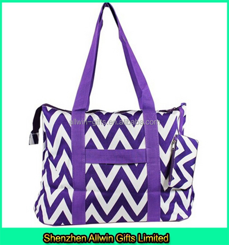 New style canvas beach tote bag chevron designer beach bag for Designer beach bags and totes
