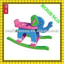 beautiful elephant ridden wooden toy