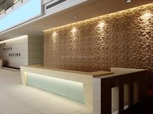 Modern eco-friendly wall panels decor/ plant fibre 3d wall panels/decorative wall panels