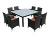 Cube rattan furniture 8 seater dining set