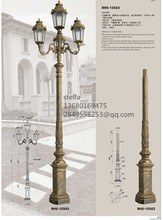 cast aluminum led street garden light pole price outdoor post for decoration