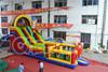 2015 new design commercial inflatable slide clown slide for adult for sale
