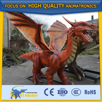Cetnology Red Dragon Animatronic Garden Statues for Decoration