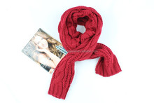 2015 Popular lady winter thick long knitted scarf