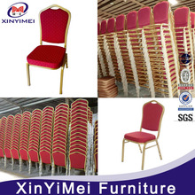 wholesale hot sale design stacking iron banquet chair