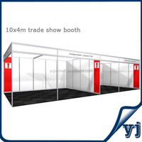 Wholesale fashionable new design 10x4m interlinked ourdoor trade show booth/ aluminum tradeshow booth stand