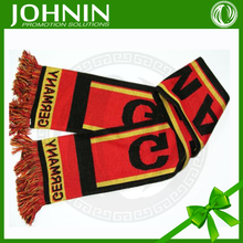 jacquard pattern knit acrylic custom fibers football knitted scarf