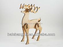 3D Wood Christmas Deer Table Decoration