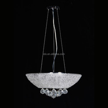 Plastic shade crystal chandelier