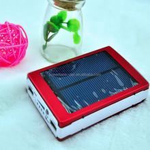 High Capacity 10000mah Dual Usb Portable Solar Panel Power Bank 10000mah Battery Charger