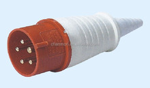 32A 3P N E 5 pin 220-380V/240-415V IP44 025L single phase splashproof industrial plug with cable sleeve