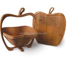 eco friendly apple shape bamboo folding fruit baskets wholesale